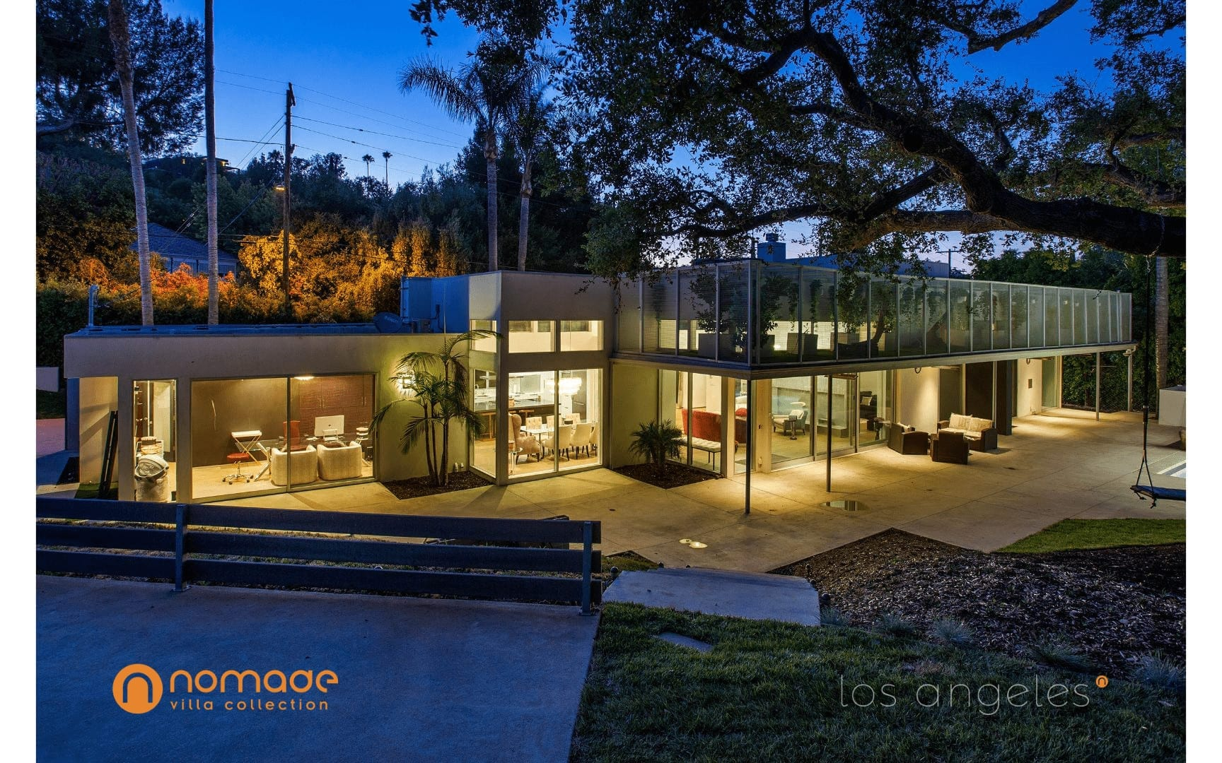 Casa Comber Retreat - Exterior Facade View - Los Angeles Mansion Rentals - Nomade Villa Collection