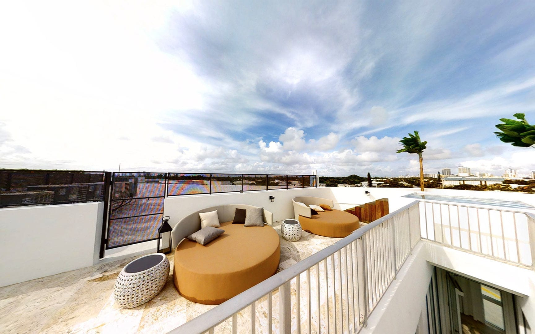 Rooftop patio with stunning South Beach Views in this Unique waterfront luxury vacation rentals in Miami Beach - Villa Park Avenue 2 - Nomade Villa Collection