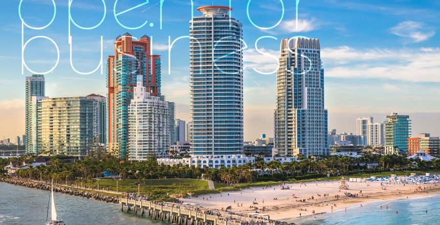 Miami Beach is open for business - Book your Miami Villa Rental Today with Nomade Villa Collection